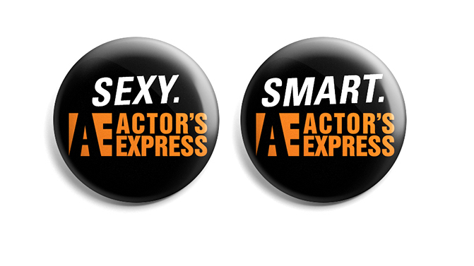 Sexy/Smart Actor's Express Pins